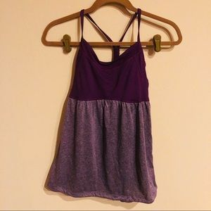 Champion racerback tank purple cinch hem size S